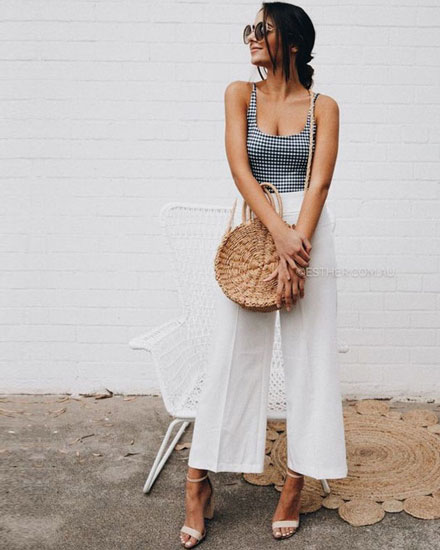 7925368e72d3 40 Amazing White Wide Leg Pants Outfit Ideas to Try This Summer | See ALL  outfits