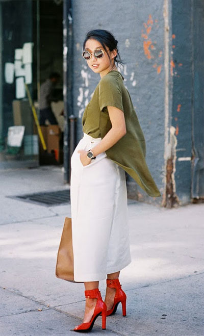 40 Amazing White Wide Leg Pants Outfit Ideas to Try This Summer   See ALL outfits at Lovika