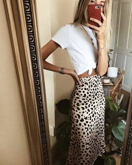 8 Stylish Leopard Skirts You Can Get on Amazon