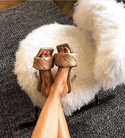 So. Many. Likes - Get This Bottega Square Toe Mule | Lovika