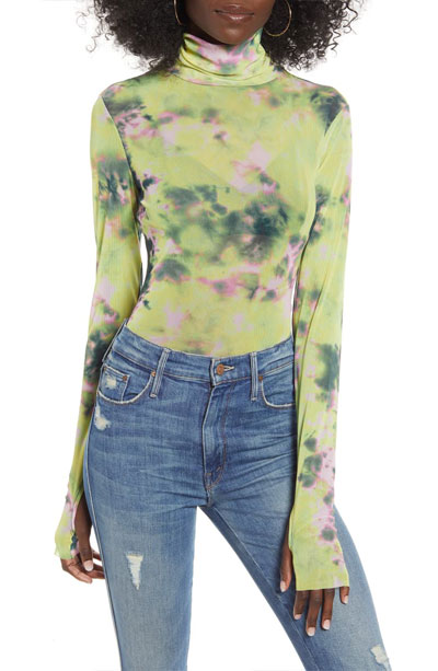 So. Many. Likes - Tie Dye Sheer Turtleneck Must-Haves