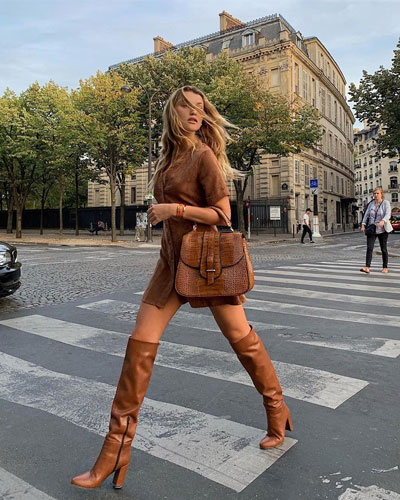 The Cool Way to Wear Knee High Boots This Fall | Lovika