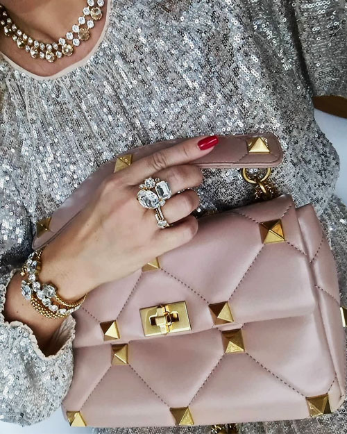 Valentino Roman Stud Nappa Chain Bag Review