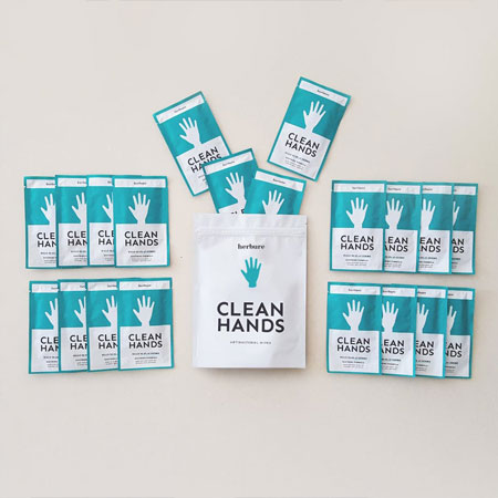 Clean Hands antibacterial hand sanitizing wipes individually wrapped travel size